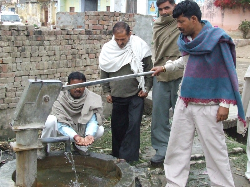 According to the study conducted by Central Ground Water Board in the year 1999-2001, the results of