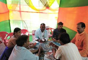 मुंगेर विधानसभा एनडीए प्रत्याशी राजीव रंजन सिंह के पक्ष में वोट अपील