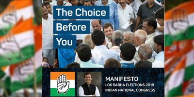 Congress Manifesto 2019 – The choice before you