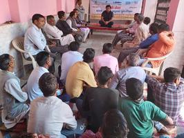 अंतवाडा गांव में युवा समिति के साथ की गयी नदी कार्ययोजना पर चर्चा