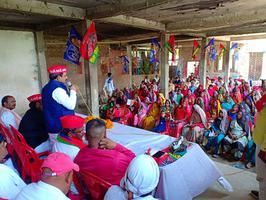वाराणसी लोकसभा के अंतर्गत नुक्कड़ सभा को संबोधन