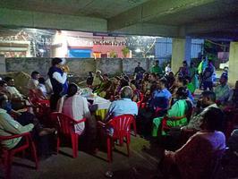 लखनऊ लोकसभा के जयप्रकाश नगर में नुक्कड़ सभा को संबोधन