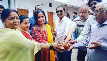 शिवपाल सावरिया - राजाजीपुरम परिक्षेत्र में पंडित दीनदयाल उपाध्याय जन्मोत्सव कार्यक्रम के अंतर्गत वार्ड विकास कार्य का शुभोद्घाटन