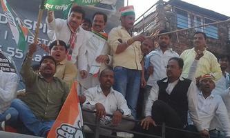 लखनऊ में सीबीआई कार्यालय पर कानपुर नगर ग्रामीण कांग्रेस कमेटी का प्रदर्शन
