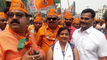 माननीय राजनाथ सिंह के नामांकन अवसर की स्वर्णिम झलकियां