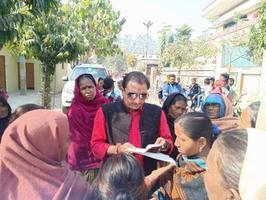 जनहित हेतु कोठारी बंधु चौराहे पर आयोजित पेंशन शिविर में आए हजार आवेदन