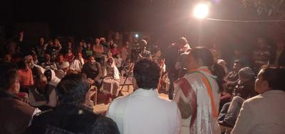 बिठूर विधानसभा में भैलामऊ के अंतर्गत किसान रात्रि चौपाल का कार्यक्रम