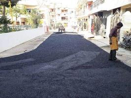 एफ ब्लॉक सुभाष पार्क के चारों ओर सड़क निर्माण कार्य का शुभारंभ