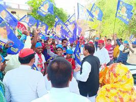 आज़मगढ़ लोकसभा की मेहनगर विधानसभा में नुक्कड़ सभा को संबोधन