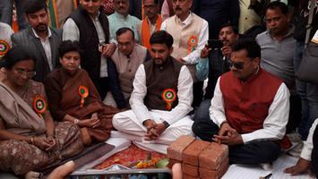 आलमबाग, लखनऊ में 50 शैया अस्पताल एवं 45 सडकों का शिलान्यास कार्यक्रम