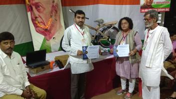 राजीव द्विवेदी -  कानपुर में आयोजित राजीव गांधी सामान्य ज्ञान प्रतियोगिता में सफल प्रतिभागियों को किया पुरस्कृत
