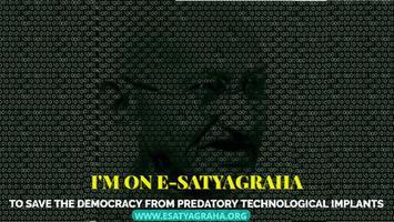 I'm on E-Satyagraha Banner for Print.