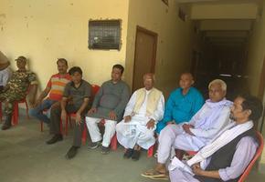 युवा जदयू दिल्ली - झंझारपुर में डोर टू डोर जनसंपर्क कार्यक्रम का आयोजन