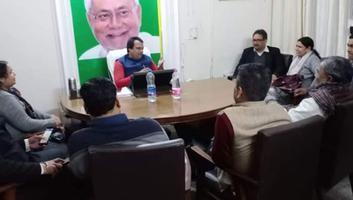 युवा जदयू दिल्ली - दिल्ली विधानसभा चुनावों के नतीजों पर जदयू राष्ट्रीय कार्यालय में हुयी समीक्षा बैठक