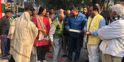 सुधीर कुमार मिश्रा – कैलाशपुरी में सड़क निर्माण कार्य का शिलान्यास