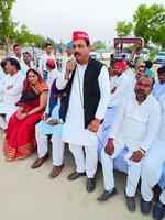 ग्राम सभा लोहारपुर, आजमगढ़ लोकसभा में नुक्कड़ सभा को संबोधन