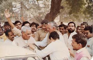 भारत रत्न विभूषित स्वर्गीय अटल बिहारी बाजपेई जी के साथ मिलकर चुनावी कार्यों में शिरकत