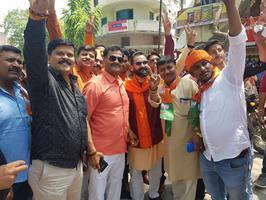 प्रयागराज संसदीय सीट से माननीय रीता बहुगुणा जोशी जी के नामांकन में दिखा बीजेपी कार्यकर्ताओं का जोश