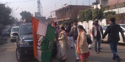राजीव द्विवेदी – माननीय राहुल गांधी जी की प्रस्तावित सभा के लिए 51 गाड़ियों का काफिला रवाना