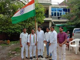73वें स्वतंत्रता दिवस के अवसर पर ध्वजारोहण कार्यक्रम में की शिरकत