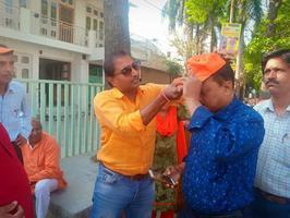 कुंवर ज्योति प्रसाद वार्ड 70 में माननीय राजनाथ सिंह जी के चुनावी जनसंपर्क अभियान का शुभारंभ