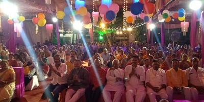 श्री राम कथा महोत्सव में भागीदारी कर प्राप्त किया गुरुवर का आशीर्वाद