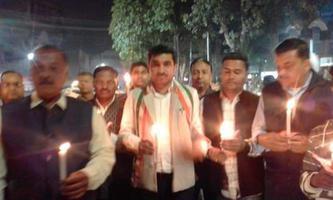 निर्दोष पुलिस इंस्पेक्टर स्वर्गीय सुबोध सिंह जी को कैंडल मार्च द्वारा श्रृद्धांजलि