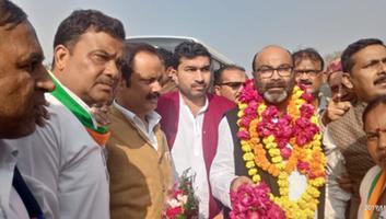राजीव द्विवेदी - जाजमऊ पुल पर प्रदेश अध्यक्ष अजय कुमार लल्लू का किया गया भव्य स्वागत