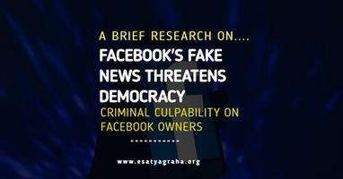 Facebook fake information threatens democracy - A brief research on criminal culpability on facebook owners