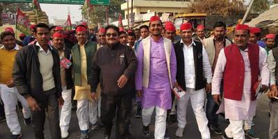 रामलखन गौतम - बिल्हौर विधानसभा में समाजवादी विजन, विकास एवं सामाजिक न्याय यात्रा