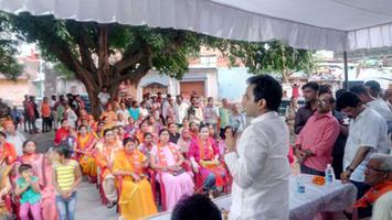 नुक्कड़ जनसभा में माननीय पंकज सिंह जी के साथ शिरकत