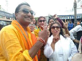 जन समर्थन के साथ संपन्न हुआ राजनाथ जी का नामांकन
