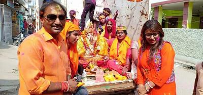 शिवपाल सावरिया - राजाजीपुरम में गणपति उत्सव की धूम