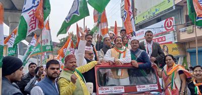 राजीव द्विवेदी - अबकी बार यूपी में कांग्रेस सरकार, के नारों के साथ प्रियंका गांधी के रोड शो का वृहद् आयोजन