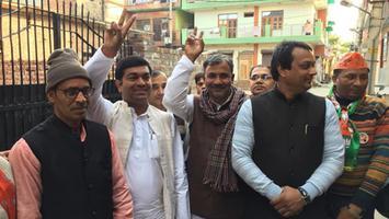 युवा जदयू दिल्ली - एनडीए प्रत्याशी शैलेन्द्र कुमार की जीत के लिए बुराड़ी विधानसभा में किया प्रचार प्रसार