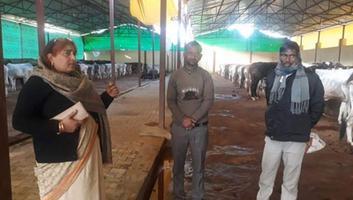 ज्योतिष्ना कटियार - अकबरपुर नगर पंचायत की अध्यक्ष श्रीमती ज्योतिष्ना कटियार द्वारा गौशाला का औचक निरीक्षण