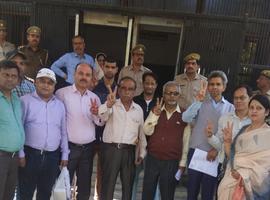 सुभाष युवा मोर्चा – सुभास पार्टी के प्रत्याशी प. अशोक भारतीय जी ने किया सादगी के साथ नामांकन