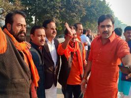 माननीय शिवपाल सावरिया जी ने जय श्री राम पार्षद दल के अंतर्गत किया अयोध्या प्रस्थान
