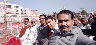 कानपुर के अंतर्गत आयोजित जनसभा में गुज्जैनी से पार्षद अनिल वर्मा की उपस्थिति