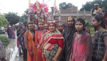 ज्योतिष्ना कटियार - नगर पंचायत अकबरपुर के अंतर्गत गणपति बप्पा को दी गयी श्रृद्धाभाव से विदाई