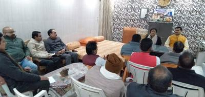 कैंट विधानसभा संचालन समिति बैठक का आयोजन