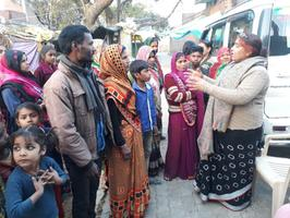पत्रक वितरित करते हुए विभिन्न गांवों में जनता को किया सीएए के लिए जागरूक