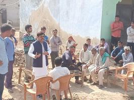 राजस्थान नगर विधानसभा के ग्राम पिराका में नुक्कड़ सभा को संबोधन