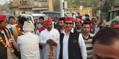 बिल्हौर ब्लॉक, अलियापुर के अंतर्गत समाजवादी विजन एवं विकास पदयात्रा