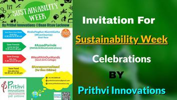 Invitation by Prithvi Innovations (1st Oct.to 7th Oct.19)