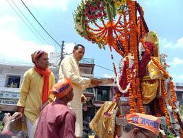 डालीगंज, लखनऊ के अंतर्गत श्री जगन्नाथ रथ यात्रा में की शिरकत