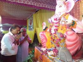 """शिवपाल सावरिया- राजाजीपुरम वार्ड में गणेश चतुर्थी के अवसर पर """"राजाजीपुरम का राजा"""" कार्यक्रम का आयोजन"""