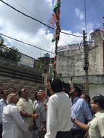 कुंजबिहारी वार्ड में 73वें स्वतंत्रता दिवस पर झण्डारोहण कार्यक्रम