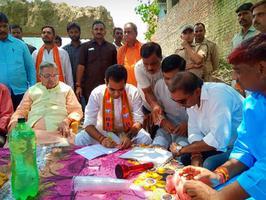 शिवपाल सावरिया- भारतीय जनता पार्टी के स्वागत सदस्यता अभियान का प्रारंभ, भाजपा युवा नेता पंकज सिंह भव्य स्वागत